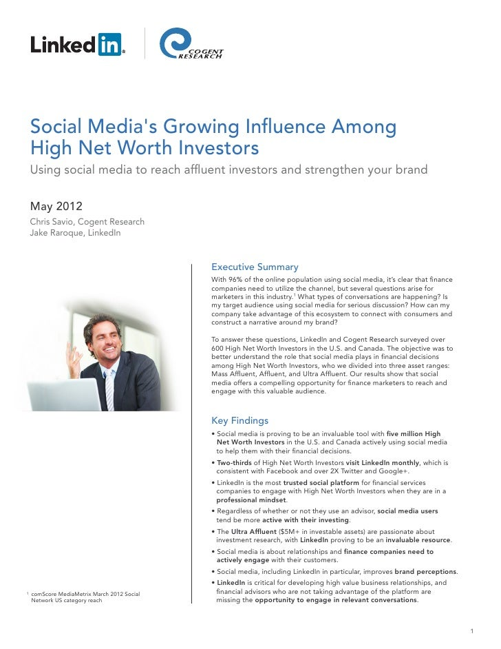 Social Media's Growing Influence Among High Net Worth Investors