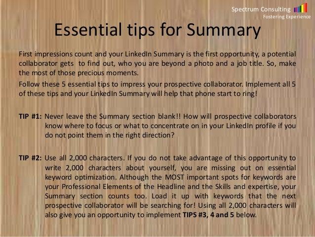 Linkedin Profile Improvement Tips
