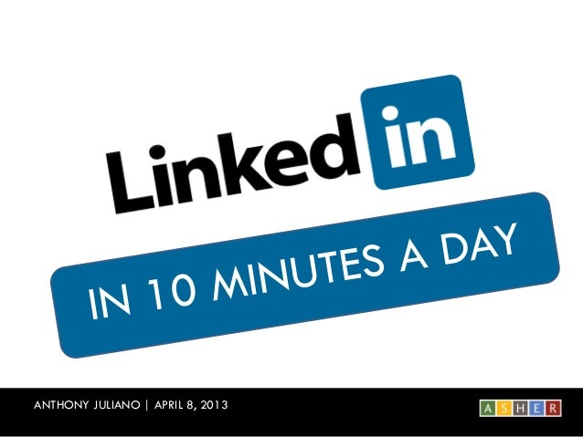 LinkedIn in 10 Minutes a Day