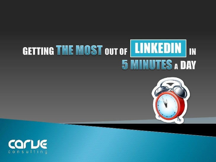 Linkedin in 5 minutes a day