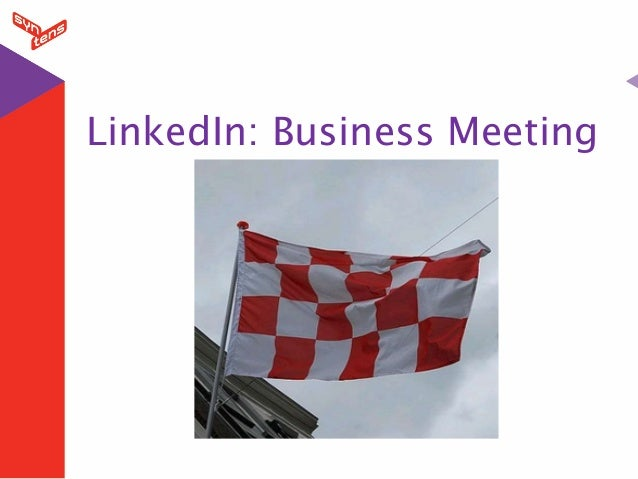 Linked in introductie business meeting brabant