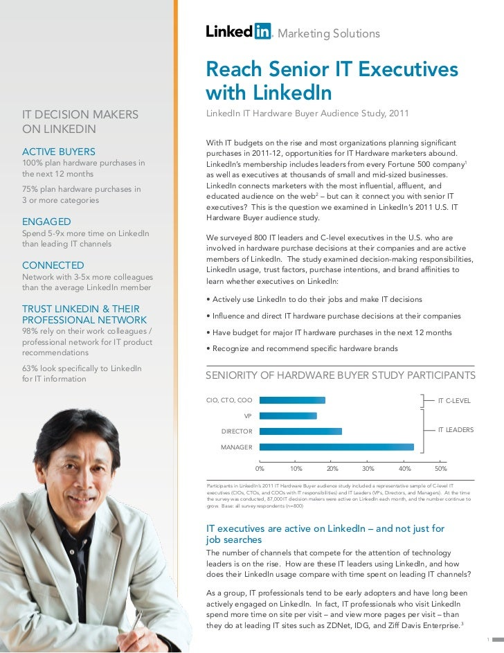 Reach Senior IT Executives with LinkedIn