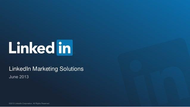 Linked in marketing solutions media kit 2013 (pl)