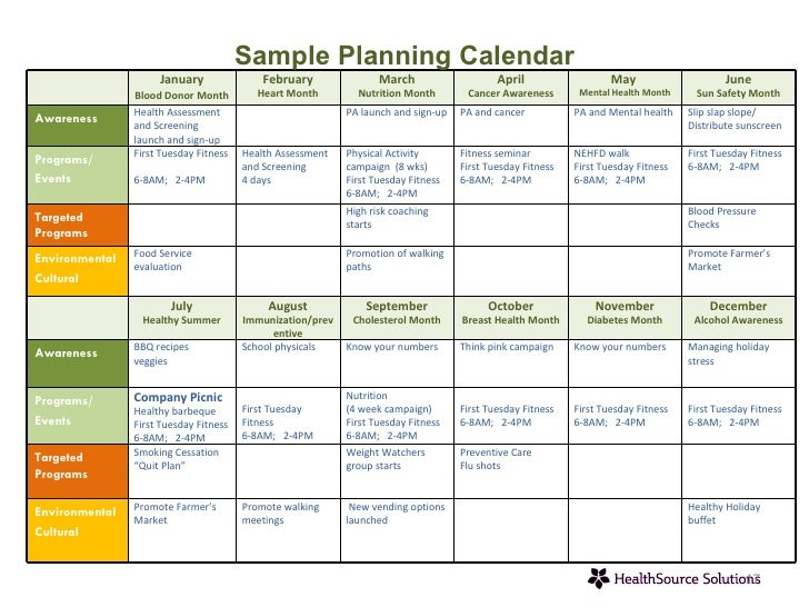 Healthsource solutions capabilities overview for Safety training calendar template