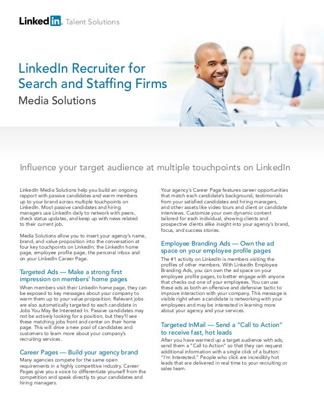 LinkedIn Media Packages - Search & Recruitment Firms
