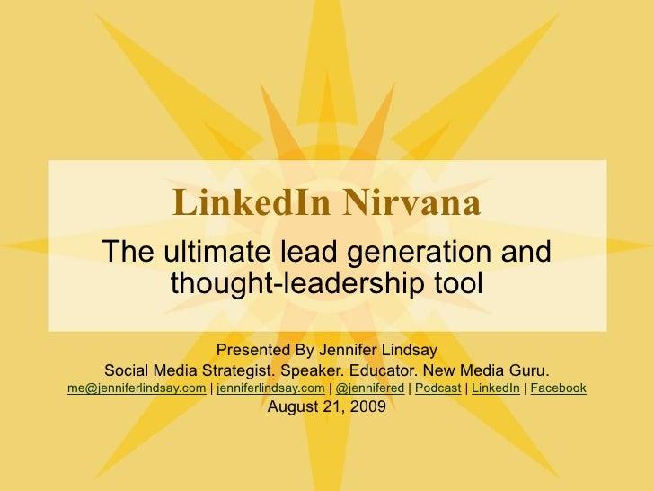 LinkedIn Nirvana