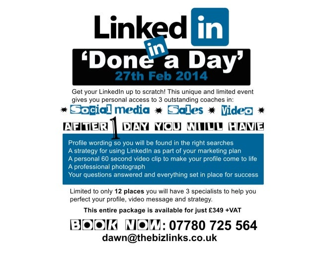 Your Linkedin Profile Done in a Day!