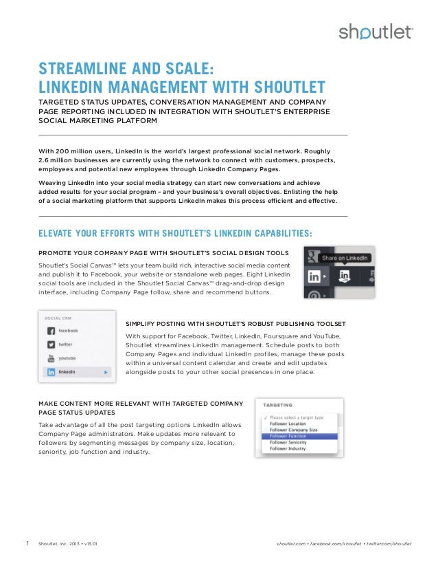 Streamline and Scale: LinkedIn Management with Shoutlet
