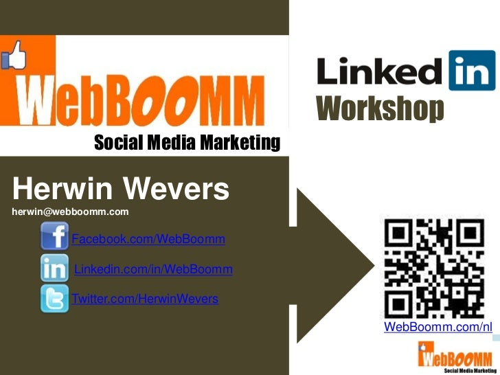Linkedin workshop online webboomm
