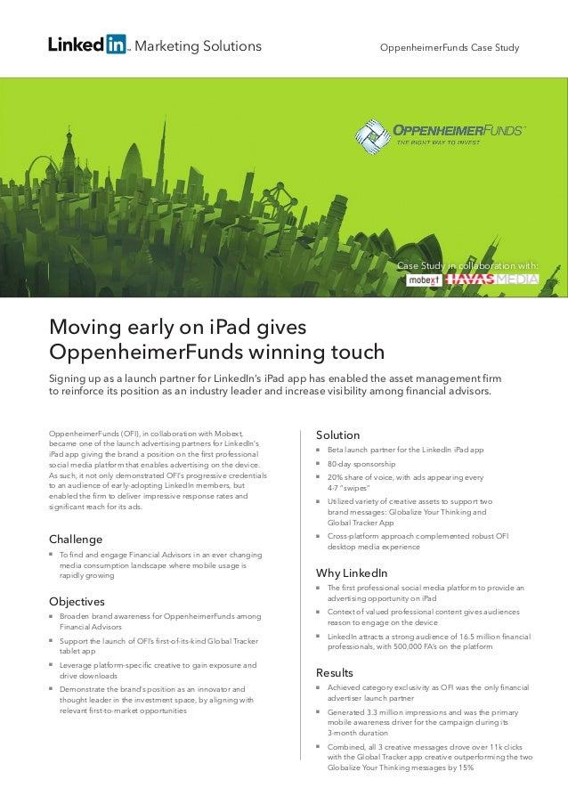 Linked in oppenheimerfunds case study 2013
