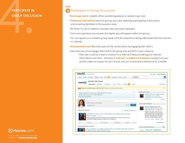 LinkedIn - Participate in Group Discussions