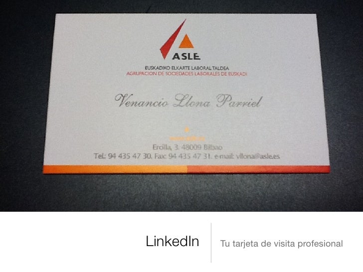 LinkedIn   Tu tarjeta de visita profesional