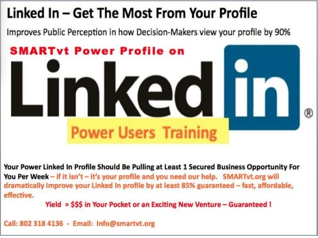 Linked In Used Right Means Money in your Pocket