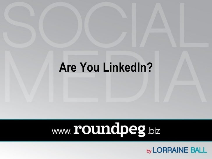 Linkedin presentation   shorter version