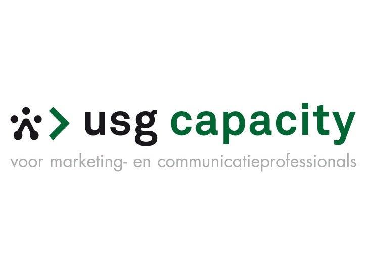 USG Capacity marketing- & communicatieprofessionals