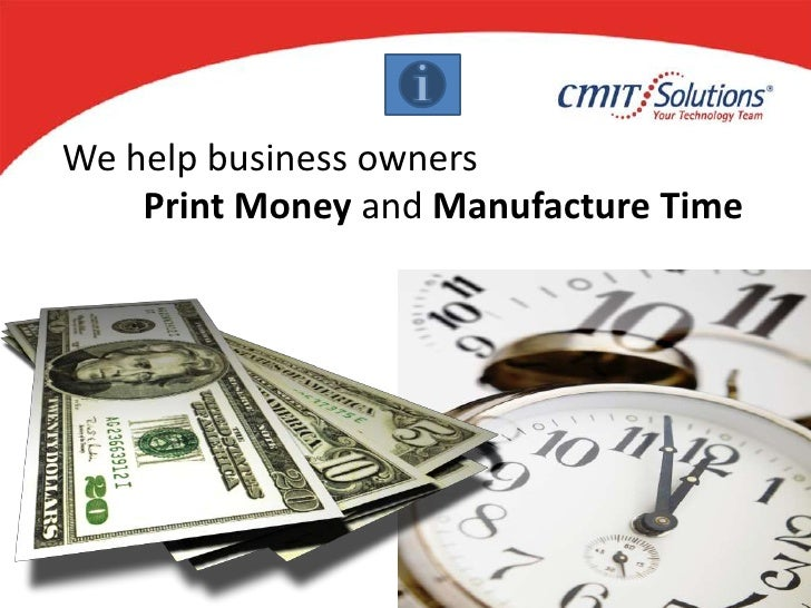 We help business owners <br />Print Money and Manufacture Time<br />