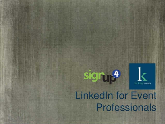 LinkedIn for Event Professionals