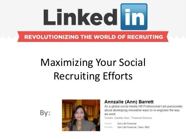 Maximzing Your Social Recruitment Efforts