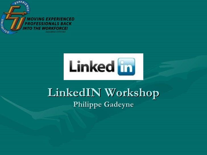 LinkedIN Workshop Philippe Gadeyne