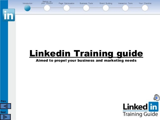 PrevNextLinkedin Training guideAimed to propel your business and marketing needs