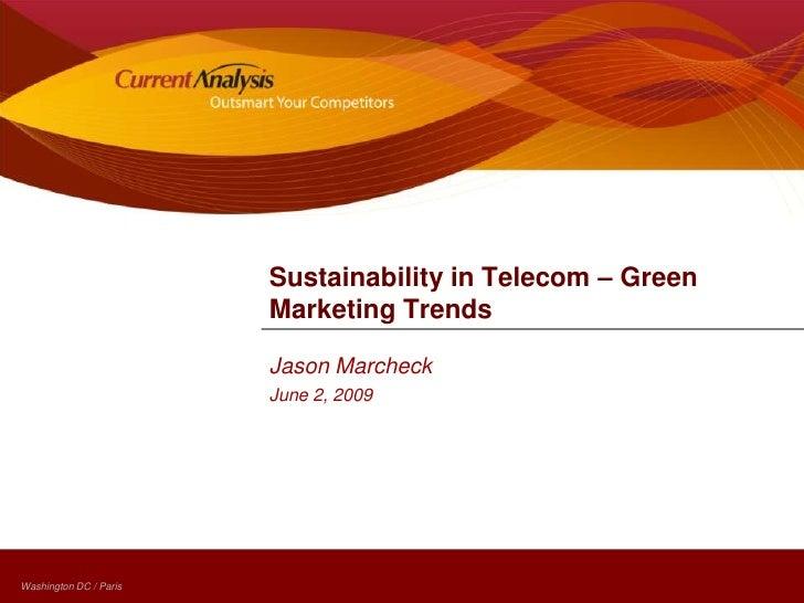 Green Telecom - Marketing Trends