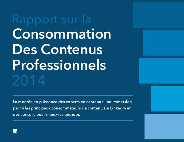 Rapport sur la 2014 La montée en puissance des experts en contenu : une immersion parmi les principaux consommateurs de co...