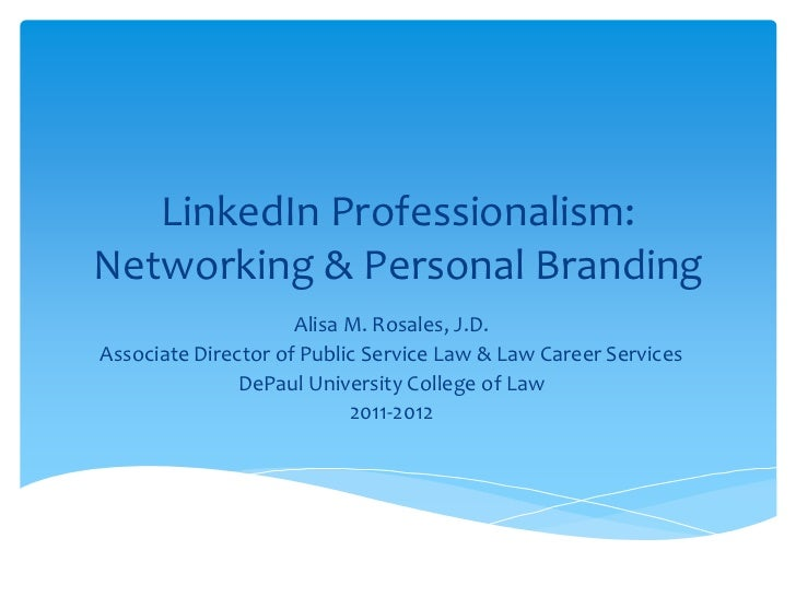 Linked In Professionalism   Selection