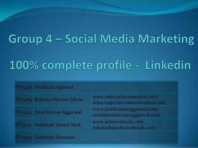 Complete LinkedIn Profile - Group 4 - Great Lakes - Social Media Marketing