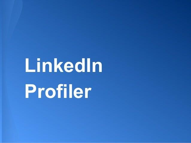 LinkedIn Profiler