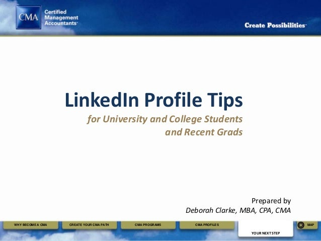 LinkedIn Profile Tips                            for University and College Students                                      ...