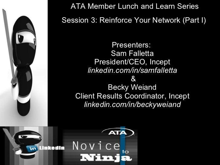 Presenters:  Sam Falletta President/CEO, Incept linkedin.com/in/samfalletta  & Becky Weiand Client Results Coordinator, In...