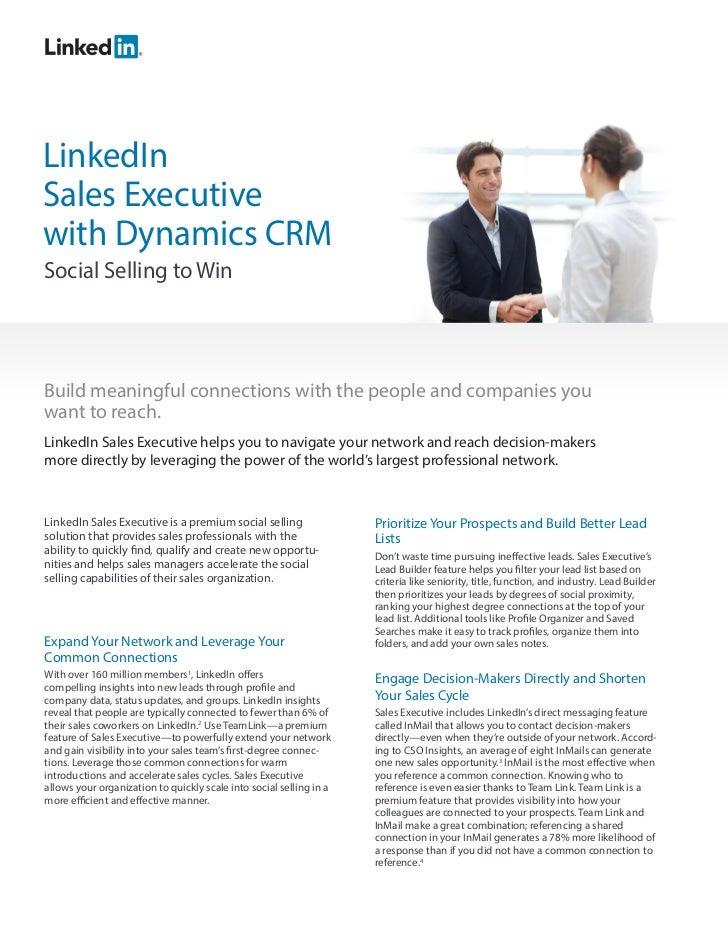 LinkedIn Sales Executive for MSFT Dynamics