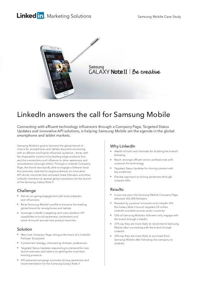 LinkedIn Samsung Case Study