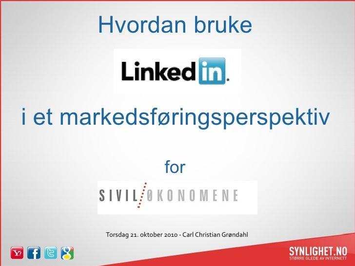 LinkedIn for Siviløkonomene