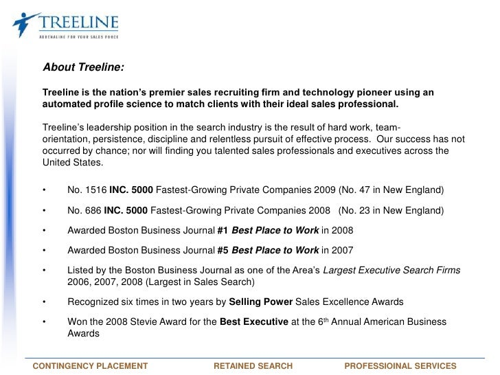 About Treeline:  <br />Treeline is the nation's premier sales recruiting firm and technology pioneer using an automated pr...