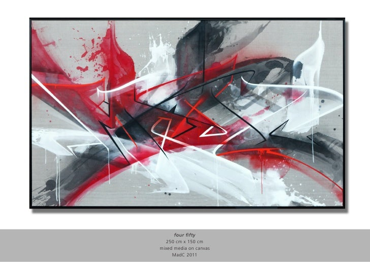 four fifty  250 cm x 150 cmmixed media on canvas     MadC 2011