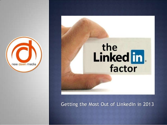 Linked in slideshare from ndm