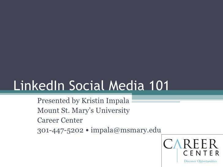 Linked In Social Media 101