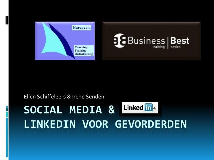 Linked In & Social Media 28 April
