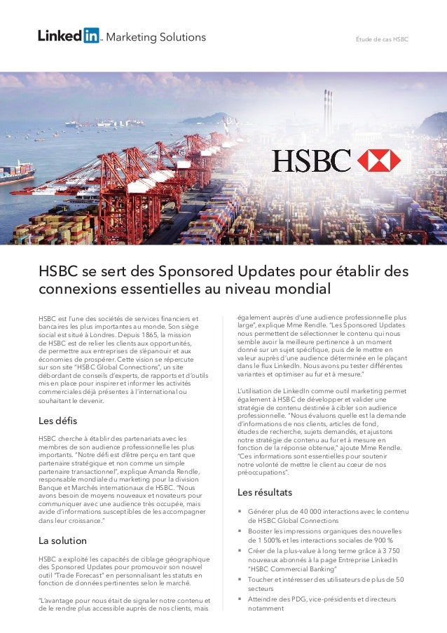 LinkedIn HSBC étude de cas