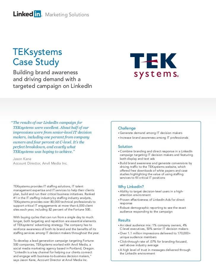 TEKsystems Case Study