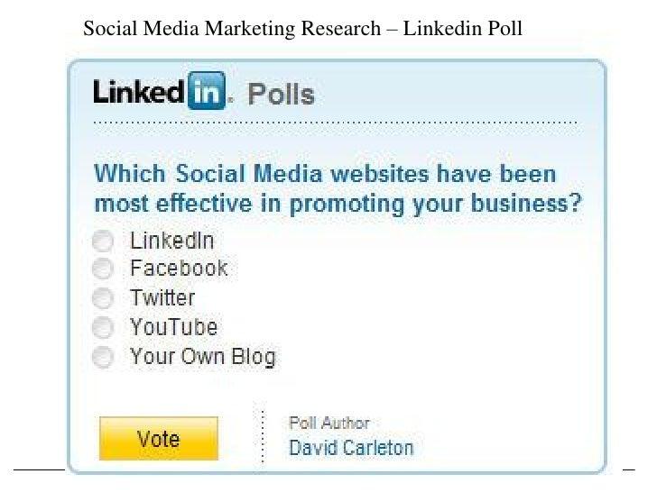 Social Media Marketing Research – Linkedin Poll