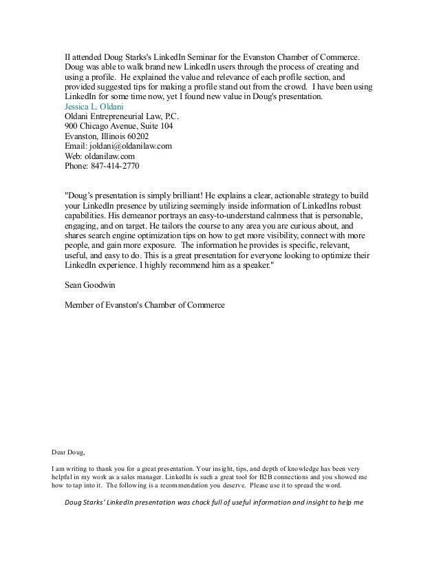 Linkedin training testimonials