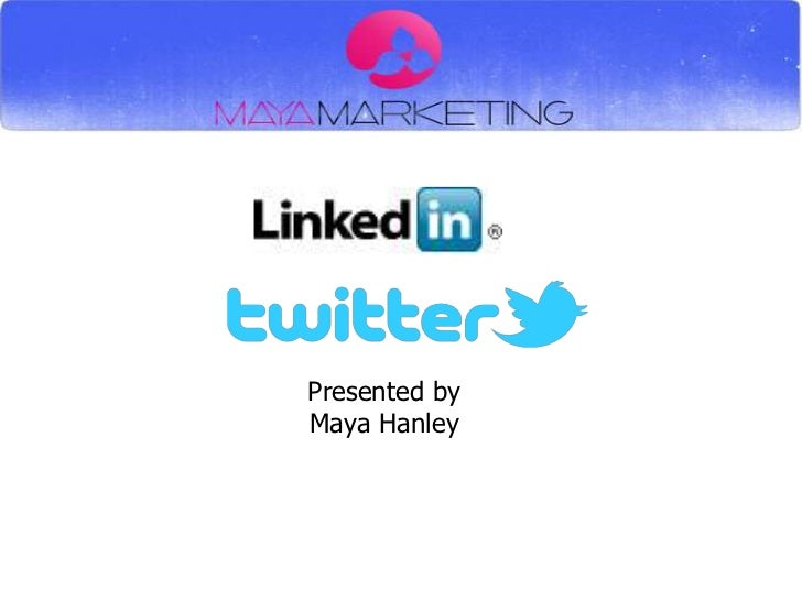 Linked in & Twitter  for Business