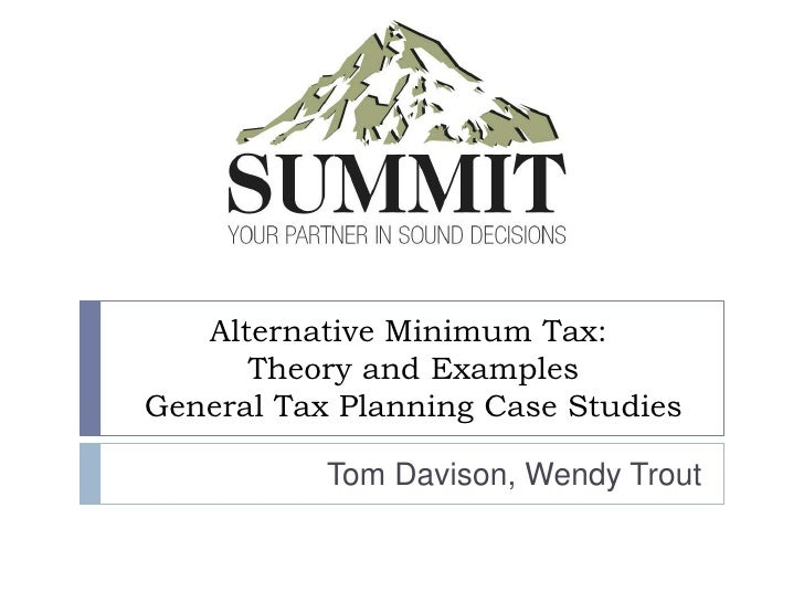 memo alternative minimum tax As the name says, it's an alternative tax which we calculate behind-the-scenes, along with your regular federal tax if the alternate.