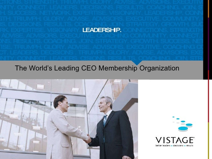 The World's Leading CEO Membership Organization