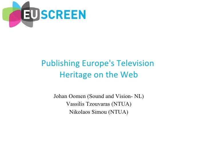 Publishing Europe's Television History on the Web