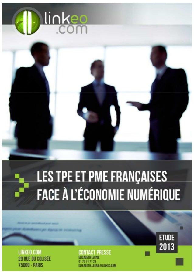 SOMMAIRE Méthodologie  Les tpe-pme et les médias Les chefs d'entreprises sont-ils connectés ? Comment s'informent-ils ?  L...