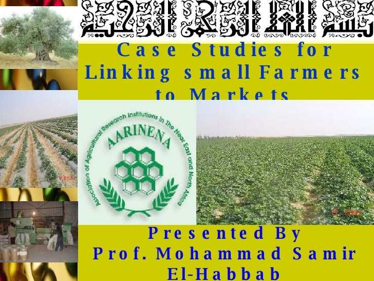 Case Studies for Linking small Farmers to Markets Presented By Prof. Mohammad Samir El-Habbab