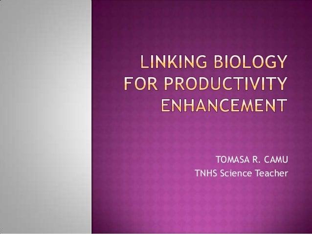 TOMASA R. CAMU TNHS Science Teacher
